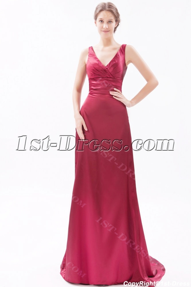 Burgundy Formal Evening Dresses for Petite Women:1st-dress.com