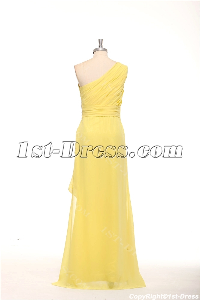 Charming Asymmetrical Neckline Yellow Semi Formal Dresses Plus Size ...