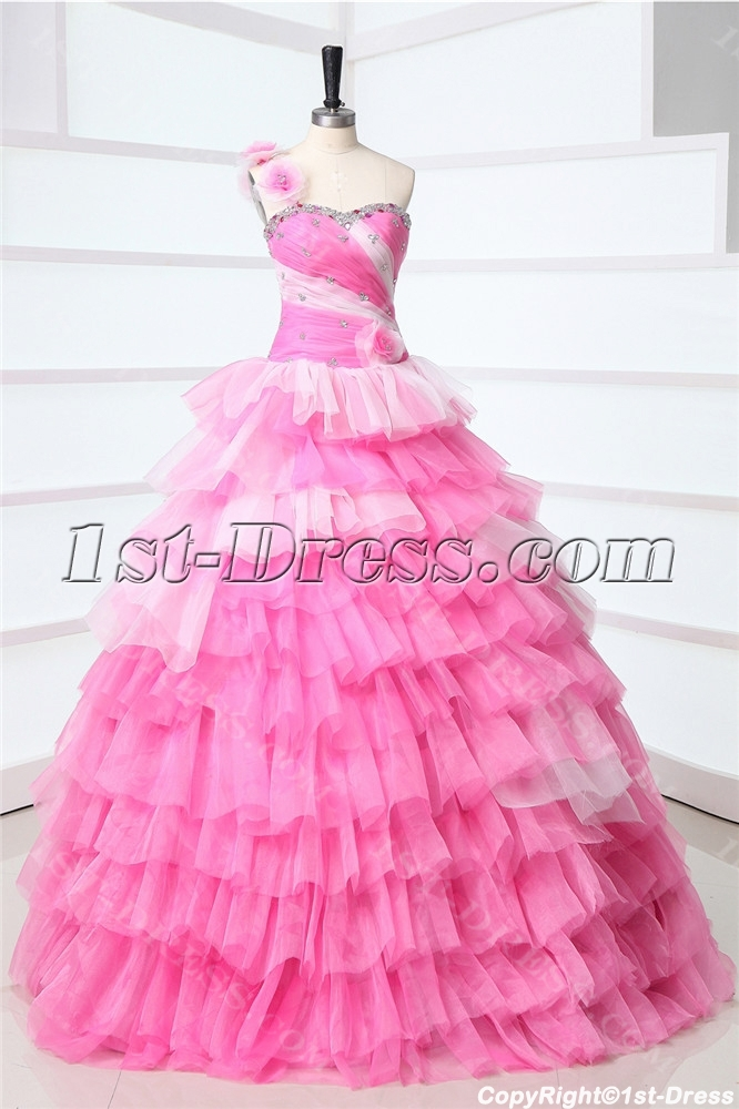 Cheap Colorful Masquerade Ball Gowns for Sale with One Shoulder:1st ...
