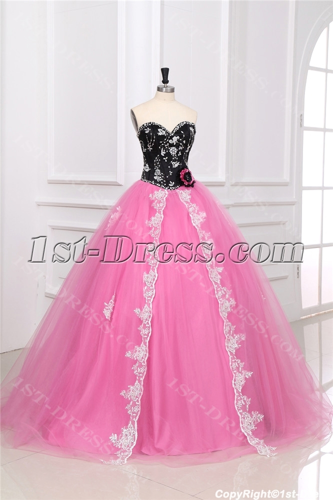 Colorful Unique Masquerade Ball Gown Dress