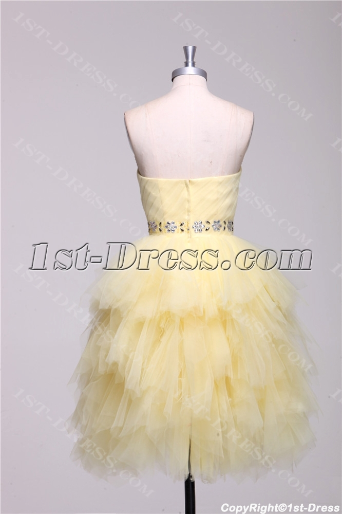 d956bb9bd5 Cute Yellow Short Quinceanera Dresses with Sweetheart 1st-dress.com