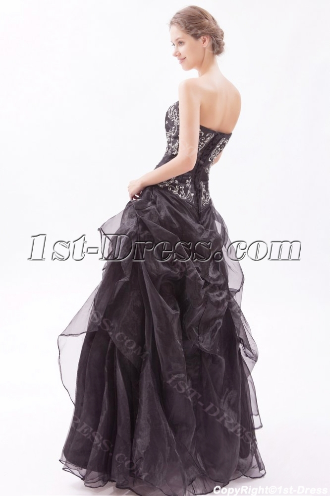 fb8187c2955 prev  next. Specifications. Product Name  Embroidery Black Strapless  Quinceanera Dresses for Large Size (Free Shipping)