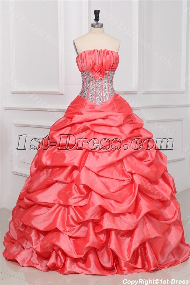images/201309/big/Exquisite-Watermelon-Princess-Quince-Gown-Dress-3132-b-1-1380551443.jpg