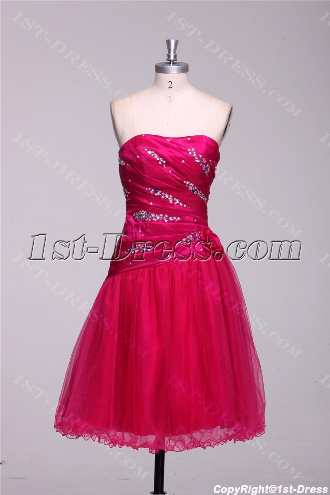 Fuchsia Short Graduation Dresses For 8th Grade 1st Dress Com