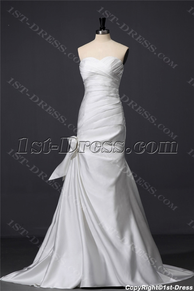 Ivory sheath satin casual wedding dress 1st for Ivory casual wedding dresses