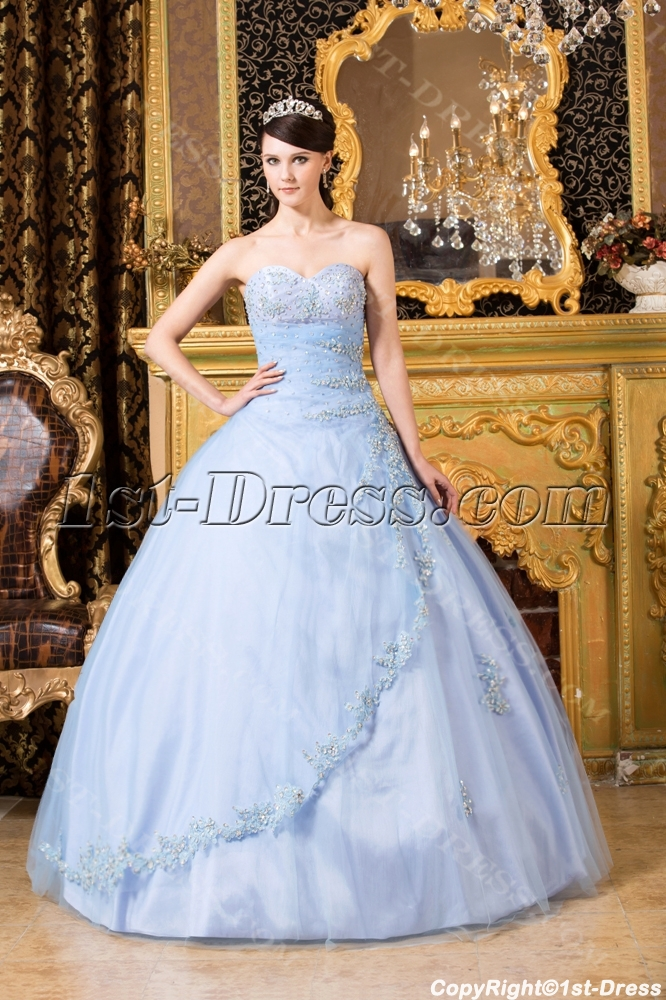 aed9b0ea8c Light Blue Popular Cheap Quinceanera Dress (Free Shipping)