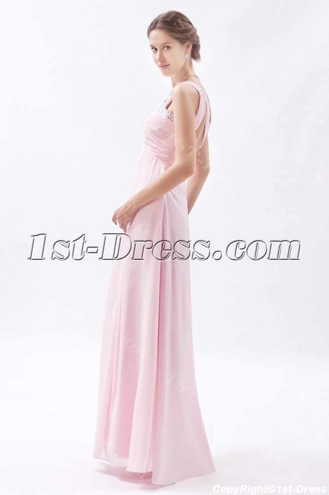 Light Pink Sweetheart Open Back Evening Dress for Full Figure:1st ...