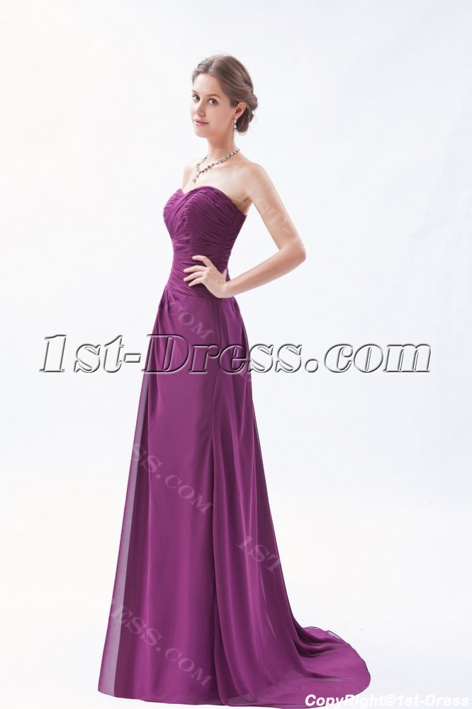 Long Sweetheart A-line Grape Purple Evening Dress Plus Size:1st ...