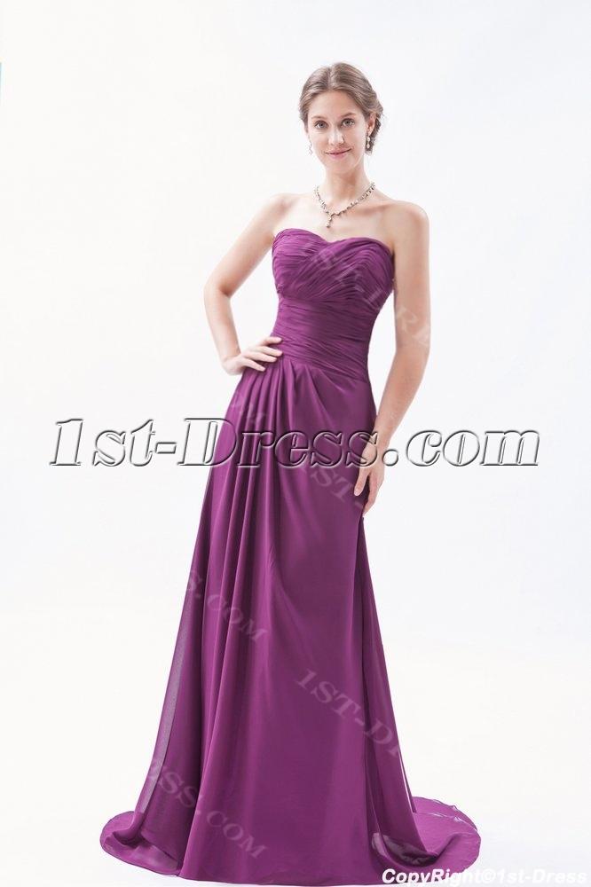 Long Sweetheart A-line Grape Purple Evening Dress Plus Size:1st ...