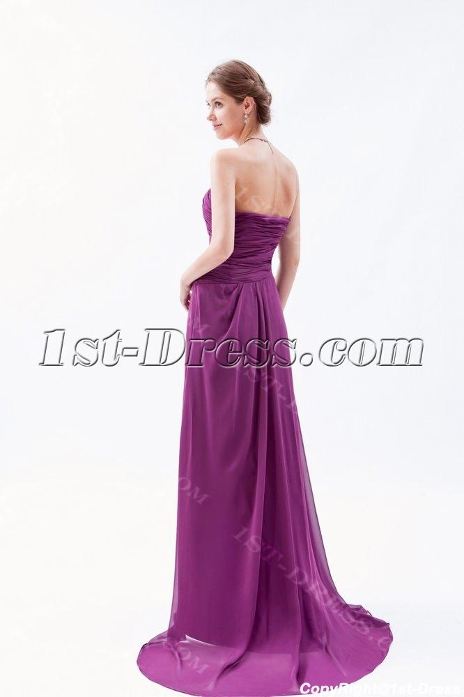 Long Sweetheart A Line Grape Purple Evening Dress Plus Size1st