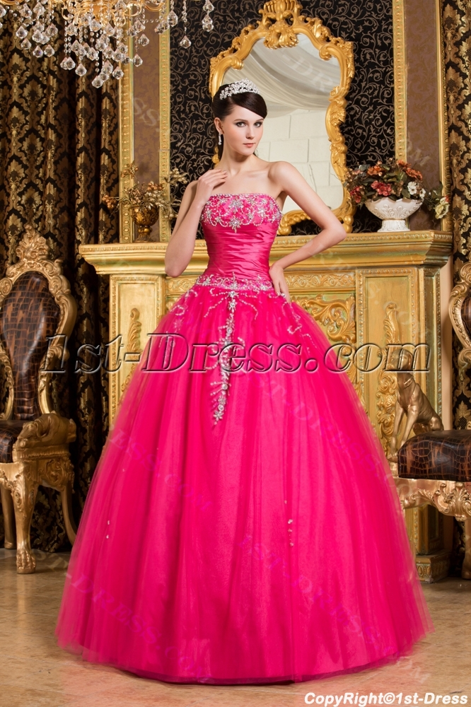 Lovely Best Hot Pink Debutante Dresses1st Dress