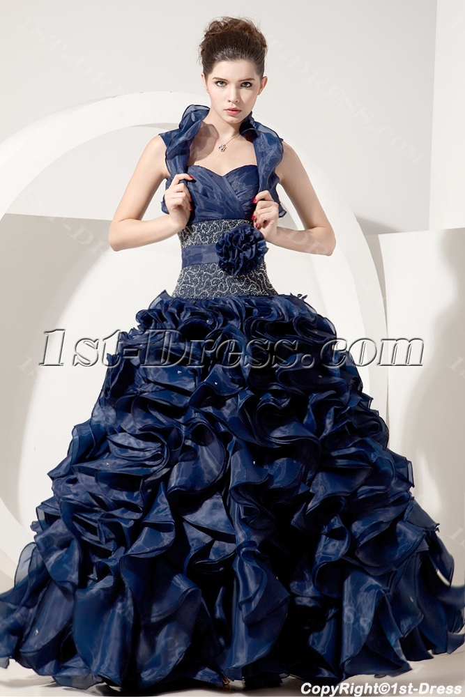 images/201309/big/Navy-Ruffle-Organza-Best-Quinceanera-Dress-with-Jacket-2861-b-1-1378715192.jpg