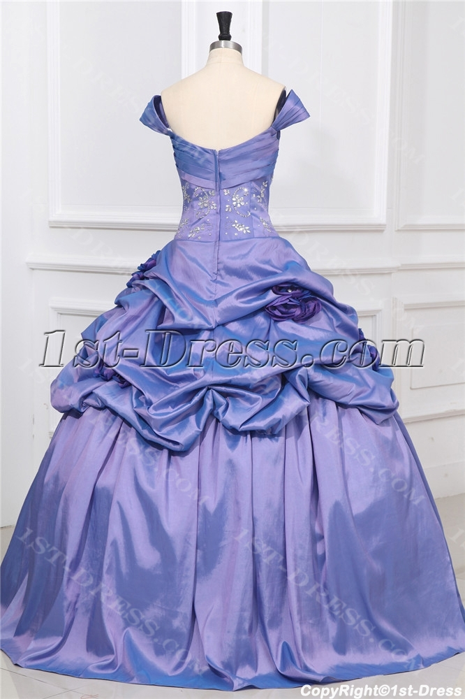 1d6a3f13a1f Off Shoulder Periwinkle Princess Quinceanera Ball Gown (Free Shipping)