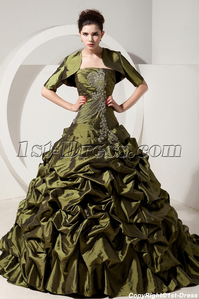 images/201309/big/Olive-Green-Puffy-Quinceanera-Dresses-with-Jacket-For-Winter-2876-b-1-1378736016.jpg
