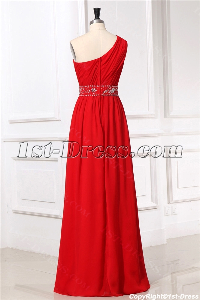 15578e0d6774 One Shoulder Red Formal Evening Dresses for Petite women (Free Shipping)