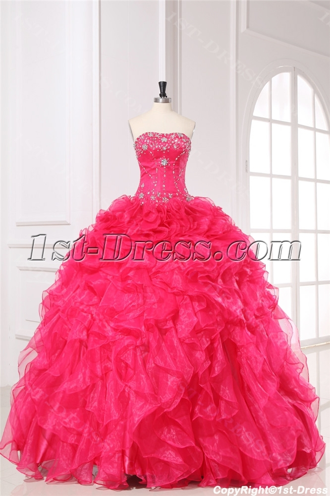 Pretty Ruffled 2014 Quinceanera Dresses 1st Dress Com