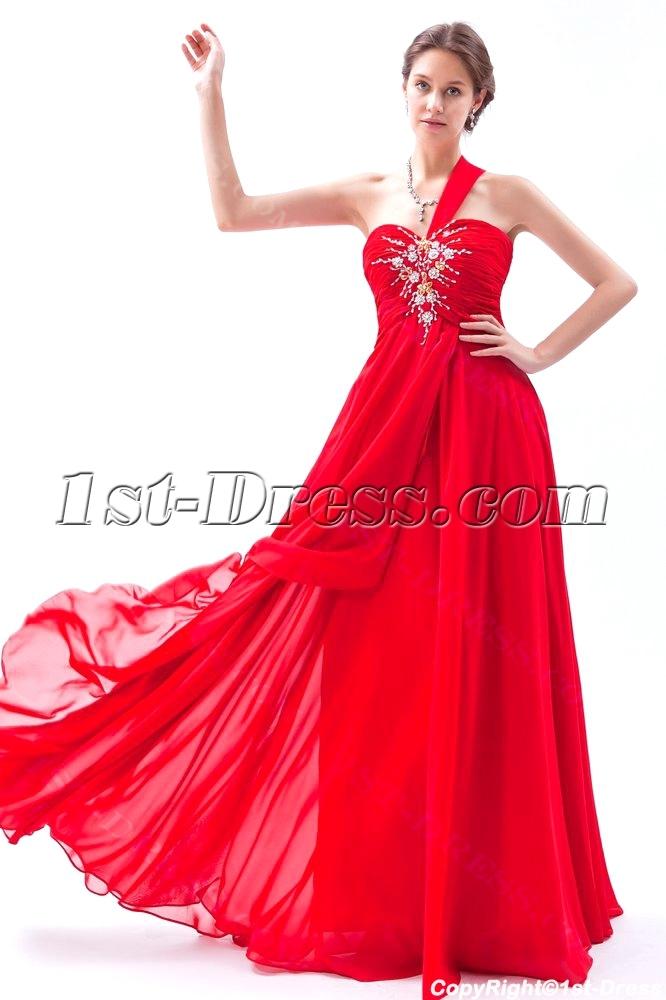 red chiffon long plus size prom dresses 20141stdresscom