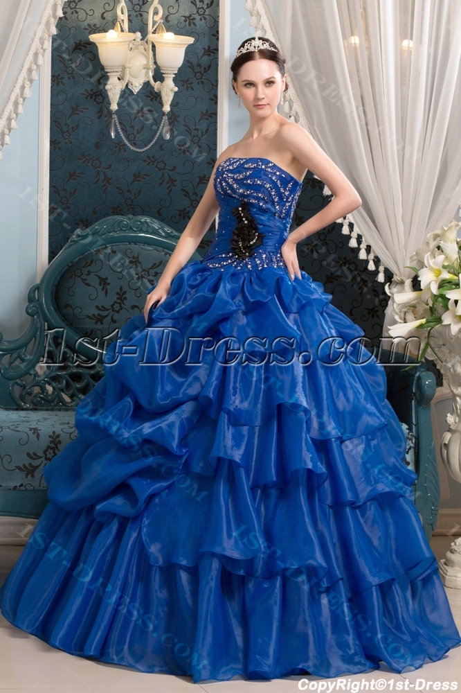 Royal Blue Spring Quinceanera Ball Dress In 20131st Dress