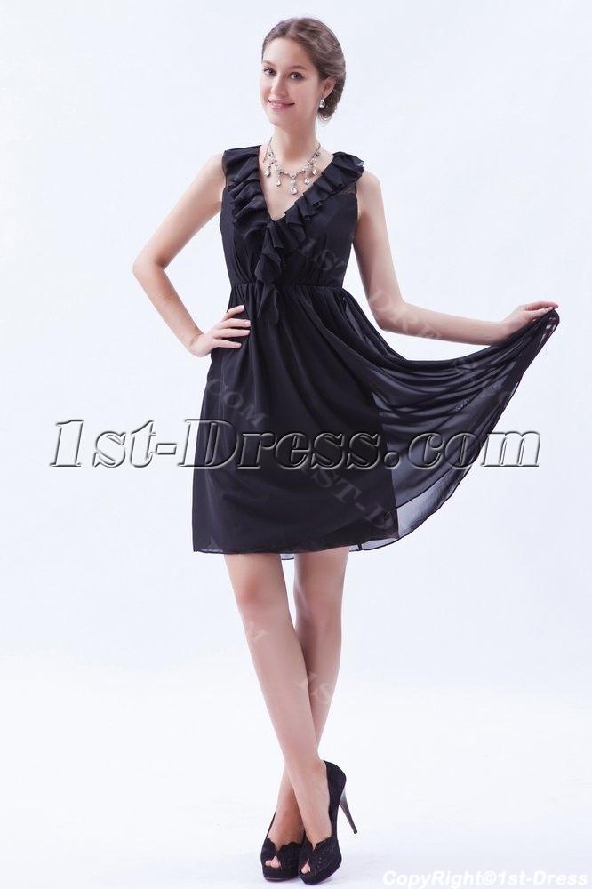 little black dress plus size women ruffled chiffon little ...
