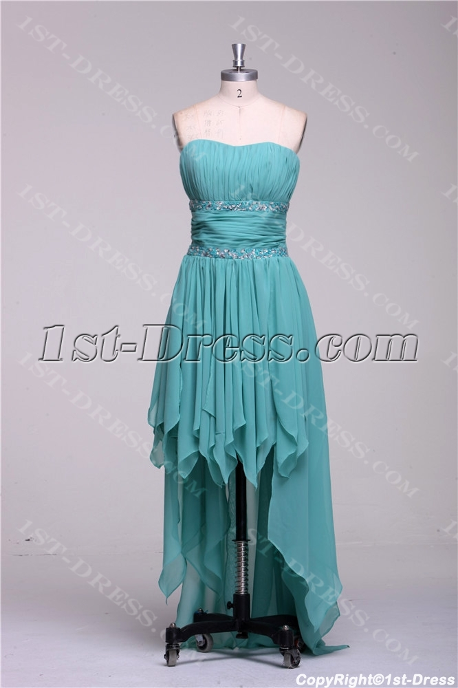 cfec3306ae0 Sage High Low Prom Dresses under 200 Dollars 1st-dress.com