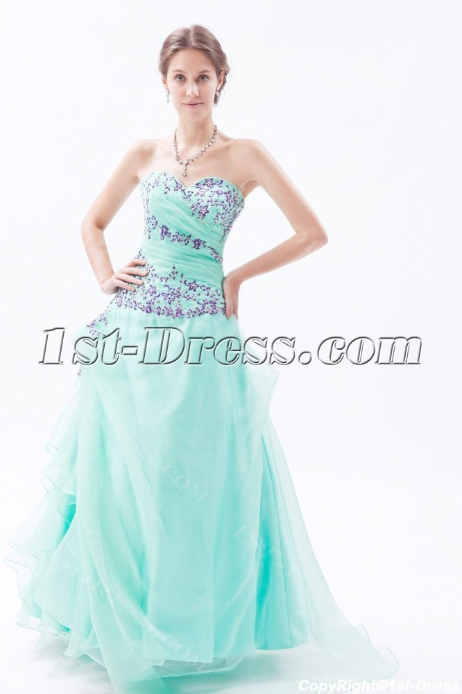 873d2ced39d Sage Puffy Sweet Cheap Quinceanera Dresses with Embroidery 1st-dress.com