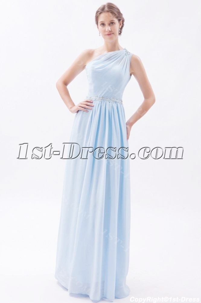 Grecian Style Prom Dresses Long sky blue dresses ...
