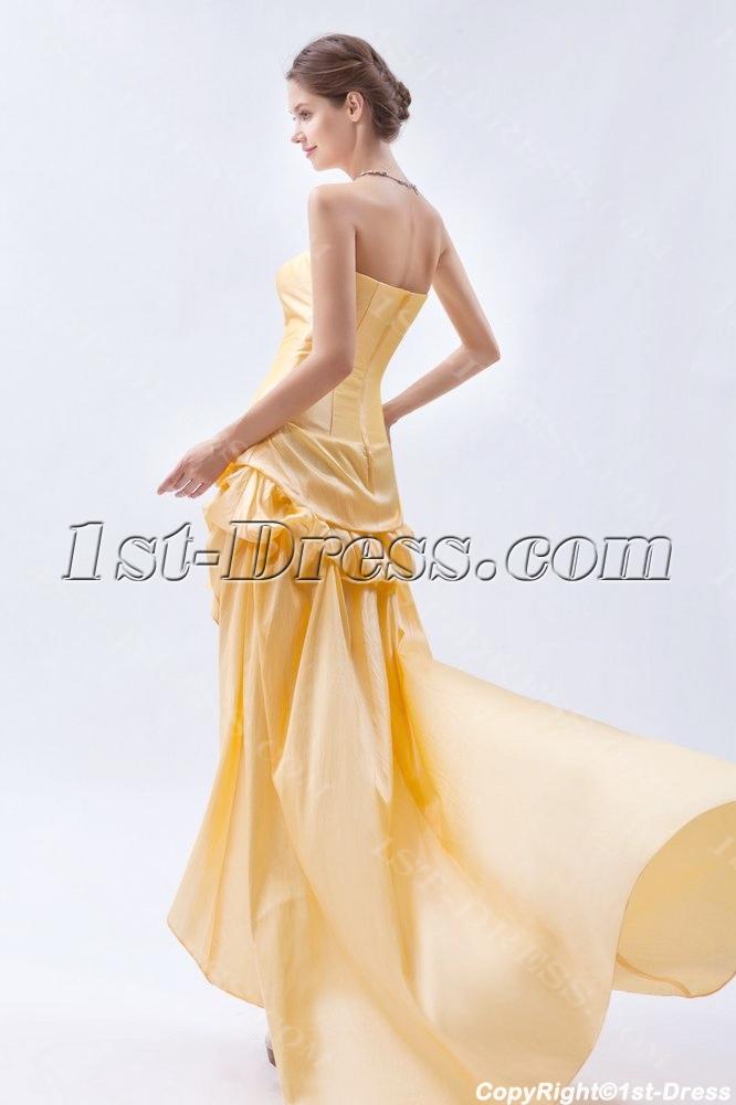 0ed205d073e Strapless Yellow High-low Hem Short Quinceanera Dress (Free Shipping)
