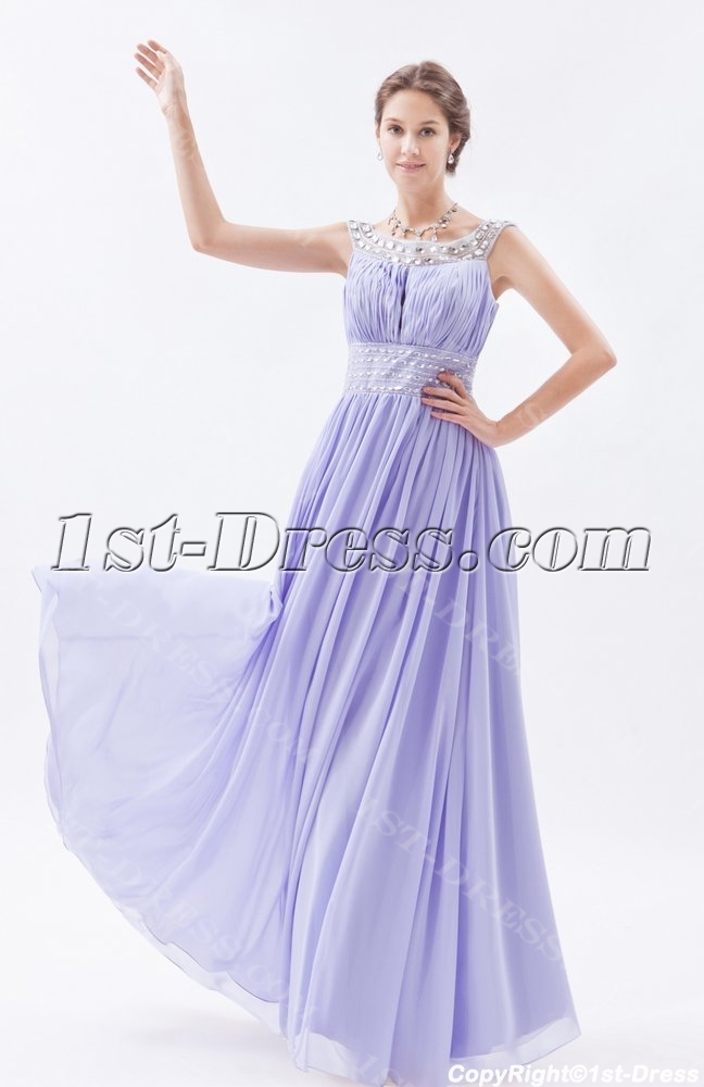 stylish lavender long scoop 2014 spring prom dress1st