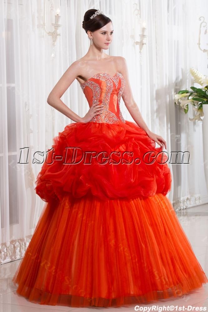 Unique Orange Cute Quinceanera Dress 1st Dress Com
