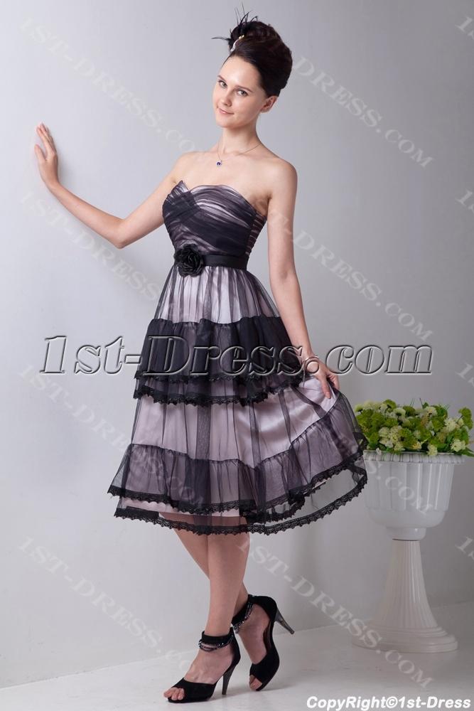white and black vintage short bridal gowns for spring 1st. Black Bedroom Furniture Sets. Home Design Ideas