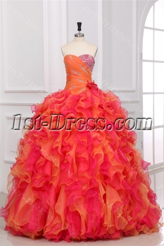 2013 Multi Color Ball Gown Dresses for Teenagers