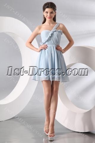 Attractive Lavender Short Chiffon Junior Graduation Dress