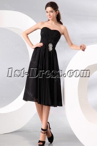 Black Short Sweetheart Short Chiffon Bridesmaid Gowns under 100