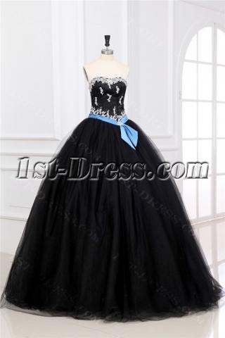 Charming Long Black Military Ball Gown