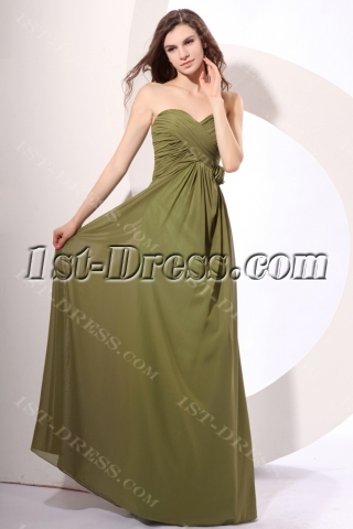 Charming Olive Green Column Pregnant Cocktail Dresses
