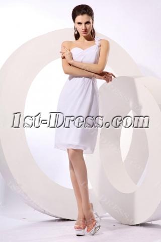 Charming White One Shoulder Graduation Dresses