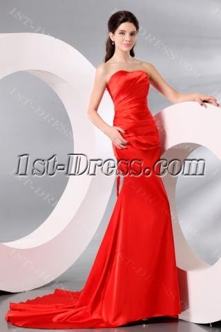 Chic Burnt Orange Formal Prom Dresses 2014