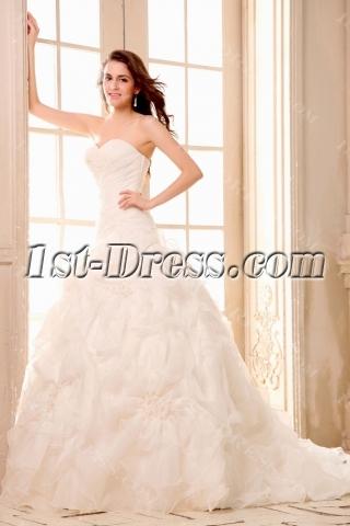 Dramatic Sweetheart Mermaid Organza Bridal Gowns
