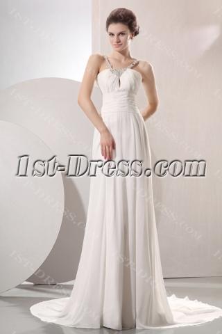 Elegant Flowing Chiffon Beach Wedding Dress