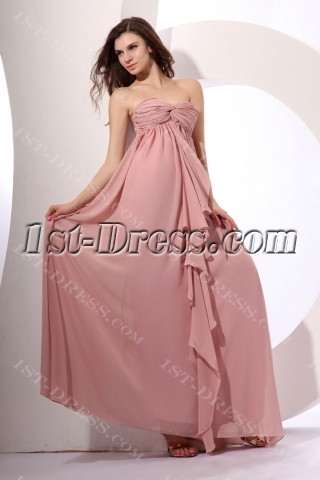 Exquisite Chiffon Long Ruched Pregnant Evening Dress