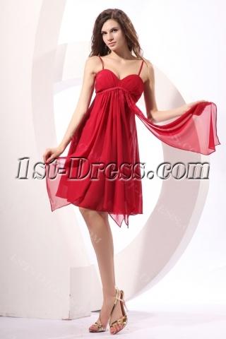 Fancy Burgundy Short Maternity Bridesmaid Dress