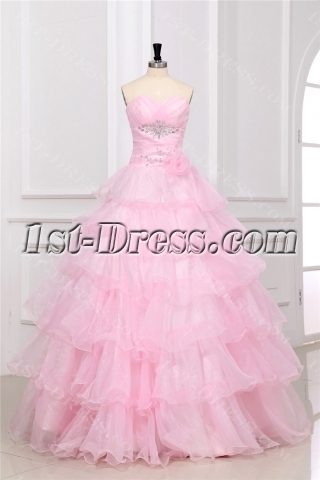 Pink Long Masquerade Dresses for Prom