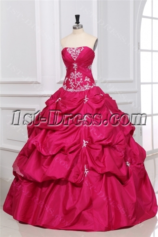 Romantic Hot Pink Pick up 2012 Ball Gowns