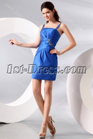 Royal Taffeta Short Gradutaion Dress
