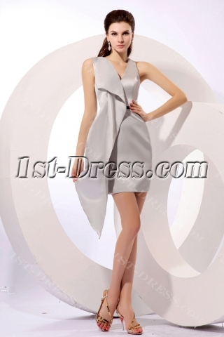 Special Silver Short Prom Dresses for Mother of Groom