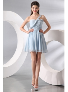 Attractive Lavender Short Chiffon Junior Graduation Dress