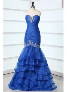 Beautiful Royal Long Mermaid Celebrity Dress