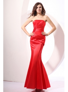Bright Petite Red Sheath Celebrity Dresses
