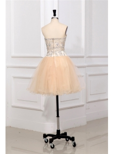 Champagne Short Club Party Dresses