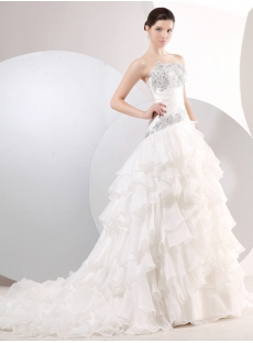 Charming Drop Waist A-line Floor Length Princess Ball Gown Dress